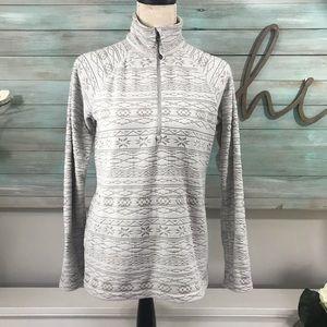 Eddie Bauer Fair Isle Fleece Pullover Sweatshirt
